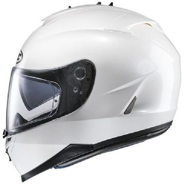 HJC IS-17 Plain Pearl White Full Face Motorcycle Helmet - XS Free Pinlock